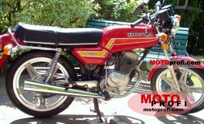 honda cb 125 t 2 1980 specs and photos. Black Bedroom Furniture Sets. Home Design Ideas