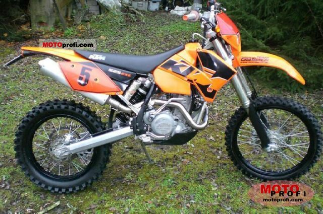 ktm 525 exc racing 2004 specs and photos