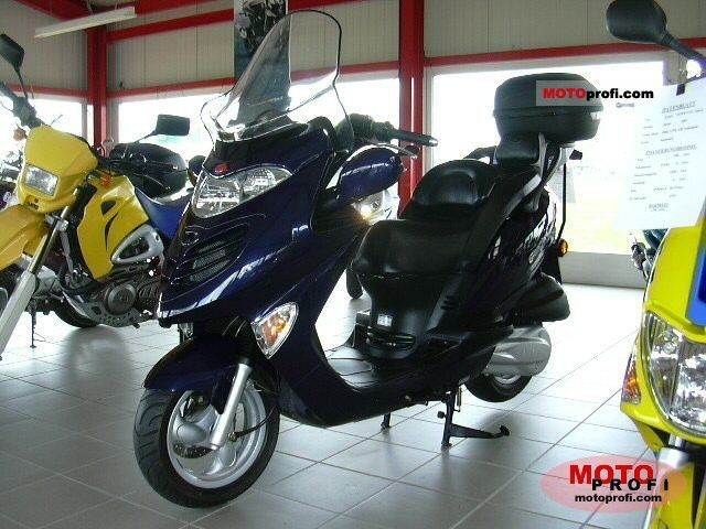 Motorcycle Rear Tire >> Kymco Grand Dink 250 2005 Specs and Photos