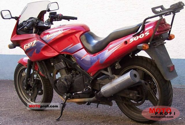 kawasaki gpz 500 s 1995 specs and photos. Black Bedroom Furniture Sets. Home Design Ideas
