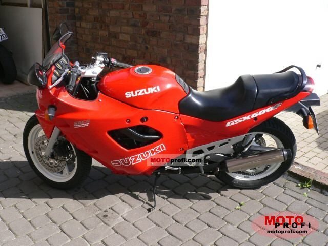 suzuki gsx 600 f 1990 specs and photos. Black Bedroom Furniture Sets. Home Design Ideas