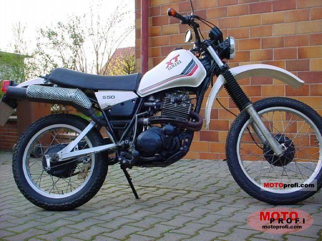 Yamaha xt 550 1983 specs and photos for Yamaha clp 550 specifications