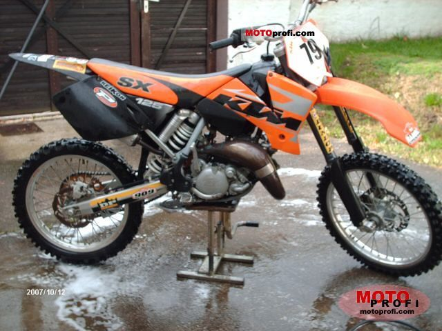 ktm 125 sx 2003 specs and photos