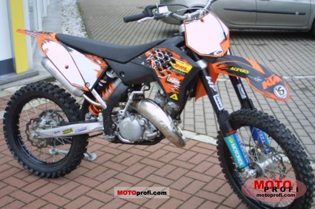 ktm 125 sx 2008 specs and photos